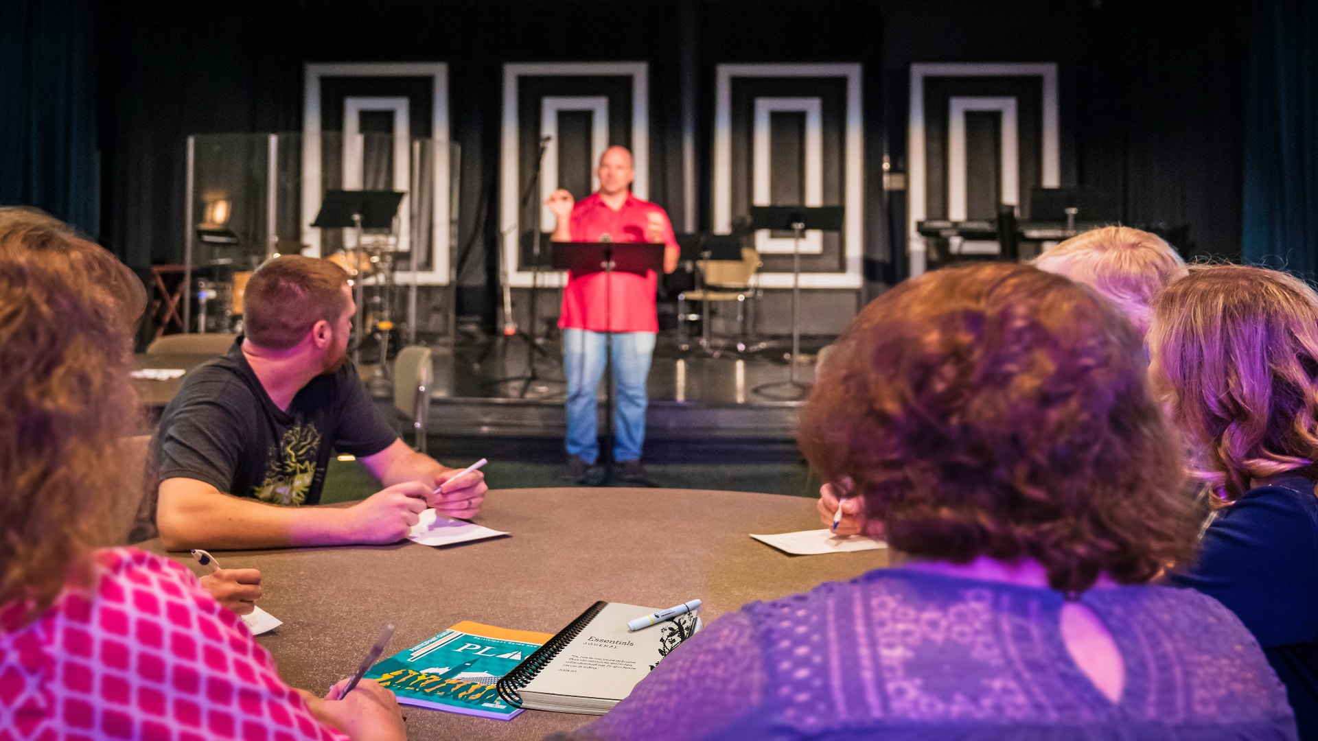Brookwood Church Care Pastor Gene Beckner speaking to a class